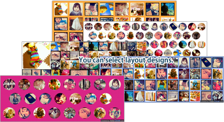 You can select from various layout designs.